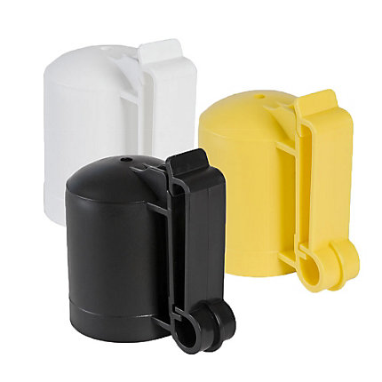 5057 - ZAREBA ITCP-Z Polytape T-Post & Wood Post Insulator, Black, White, or Yellow