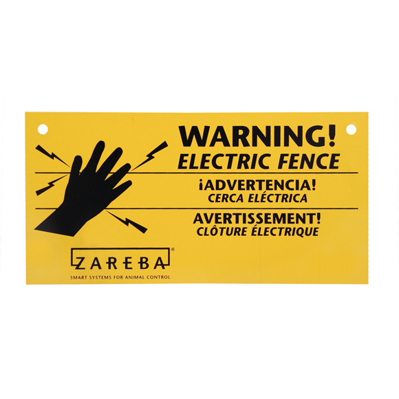 "5092 - Zareba WS100 4"" X 8"" Electric Fence Sign"