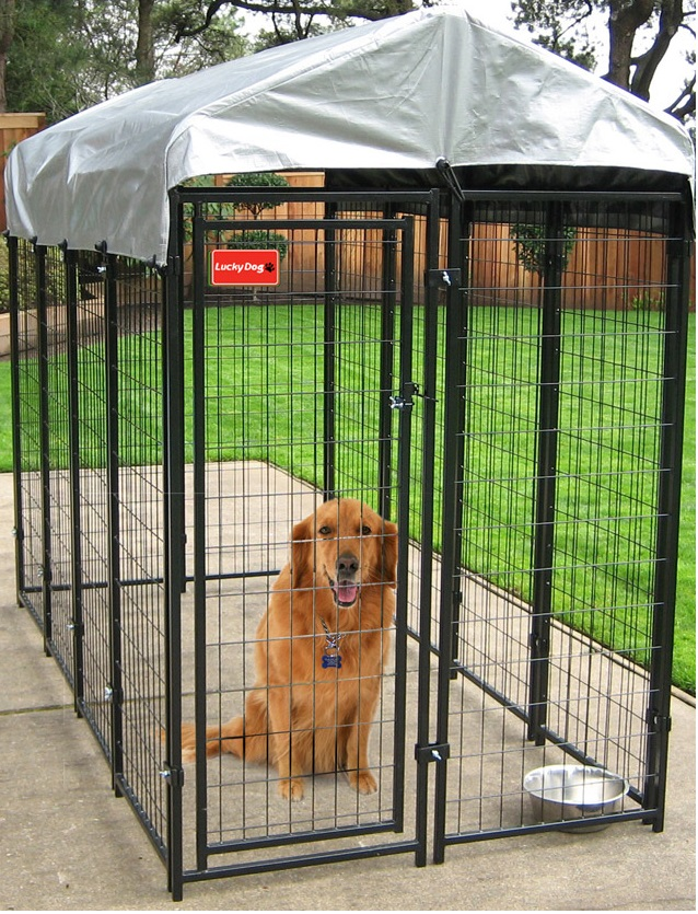 CL60544 - 4W X 6H X 4L DOG KENNEL W/ CVR
